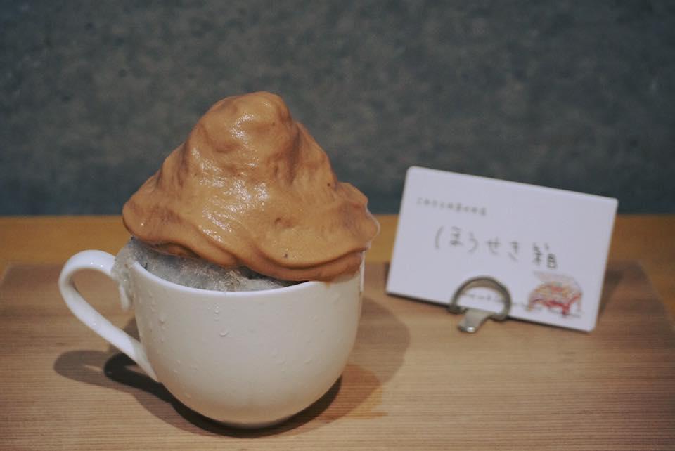 チョコレートエスプーマかき氷