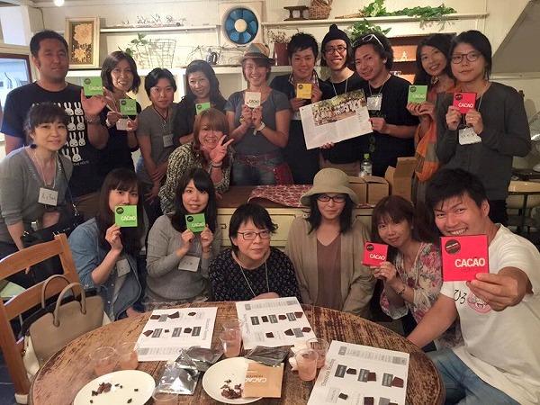 カカオハンター小方真弓ショコラセミナーinチョコレート研究所