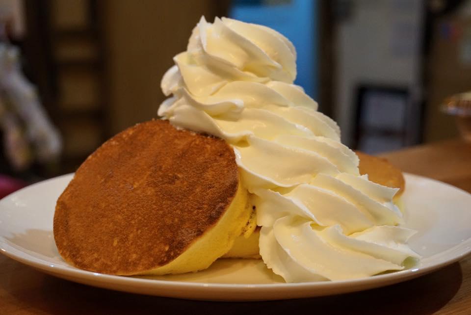 こだわり卵のスフレパンケーキ(大豆粉バージョン)