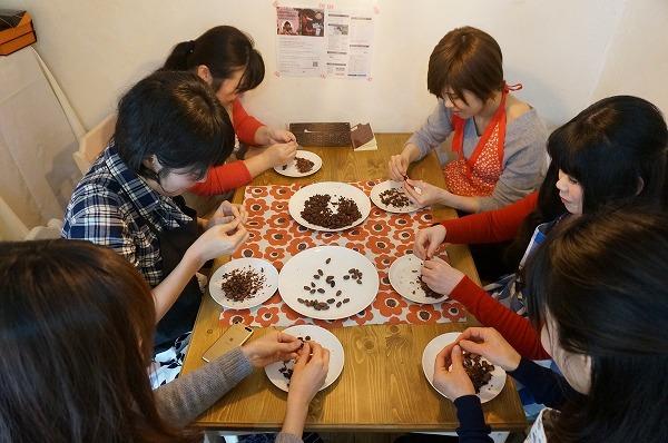 チョコレート研究所 カカオ豆から手作りチョコレートワークショップイベント